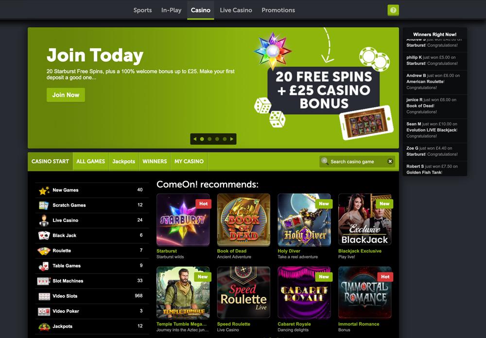 comeon-casino-frontpage